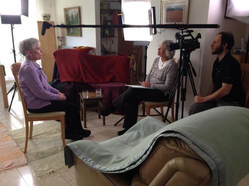 Interview setup with Etti Shoshani